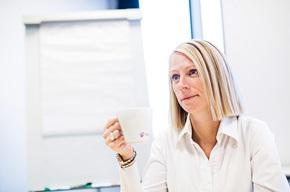 """""""I verksamheter där man får mycket frågor om sin faktura kan det vara användbart att använda eye tracking för att få en större förståelse för vad kunden egentligen tittar på"""", säger Jane Poulsen."""